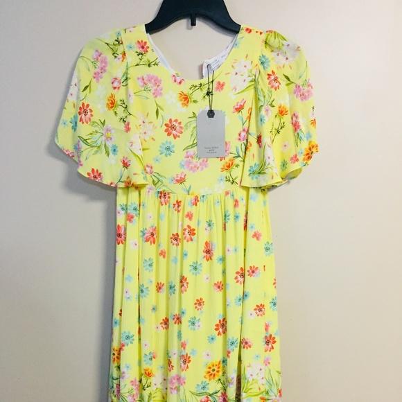 db05d19fd Zara Dresses | Nwt Girls Soft Collection Yellow Floral Dress | Poshmark